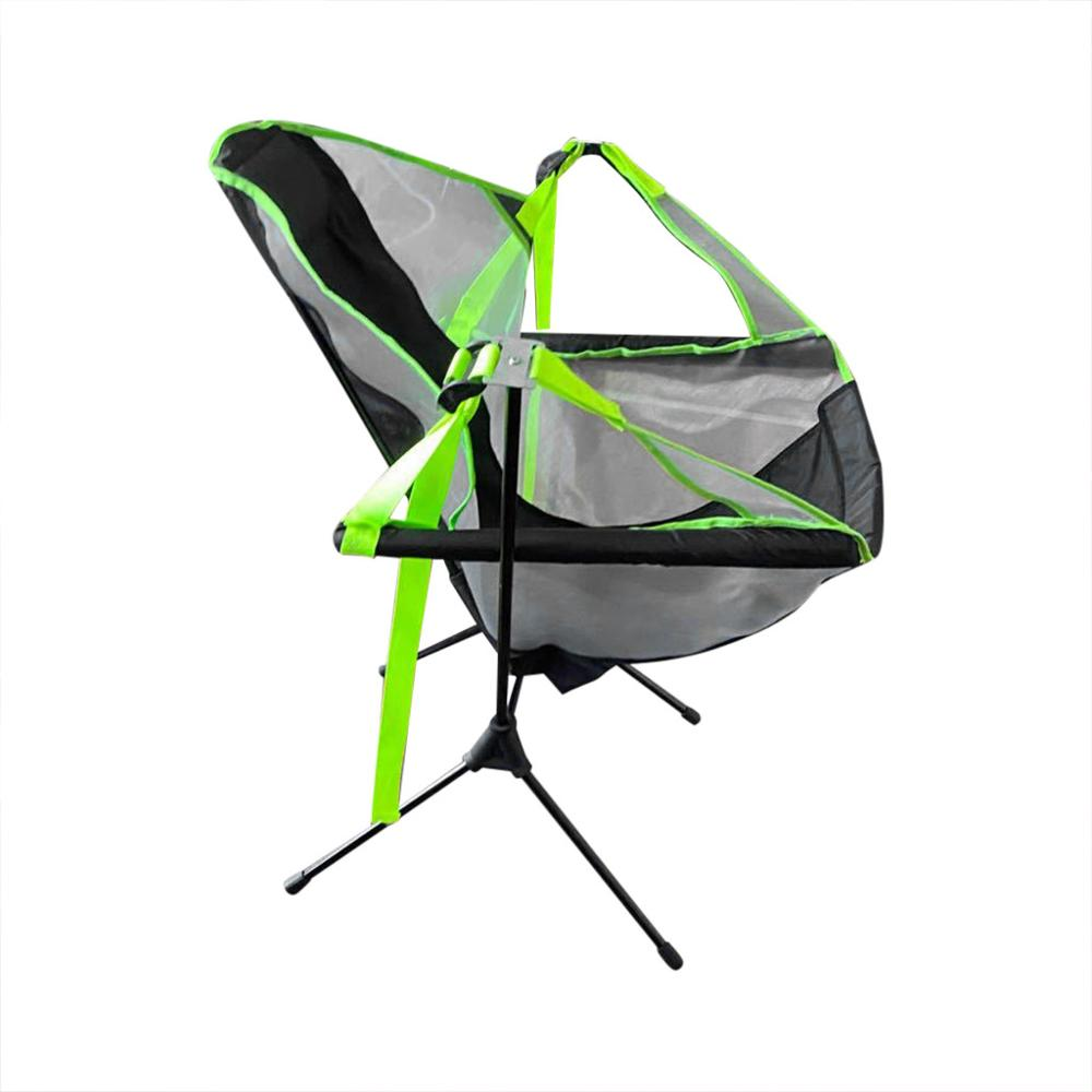 Portable outdoor folding chair Swing chair recliner Ultralight High Back Folding Camping Chair With Headrest Outdoor Backpacking