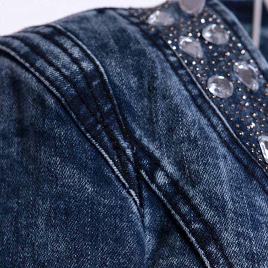 JAYCOSIN Women s Coat New Fashion 2019 Denim Coat Ladies Casual Jacket Outwear Jeans Overcoat female JAYCOSIN Women's Coat New Fashion 2019 Denim Coat Ladies Casual Jacket Outwear Jeans Overcoat female Turn-down Collar jackets