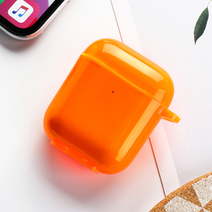 Image 5 - Voor Airpods Case Siliconen Snoep Kleur Transparant Fundas Voor Air Pods 2 Oortelefoon Cases Protector Voor Airpods Pro Soft Tpu cover