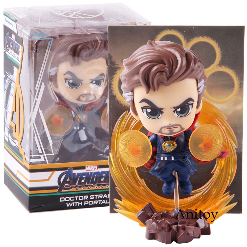 Marvel Avengers End Game Doctor Strange With Portals Shaking Head Doll PVC Figure Model Toy