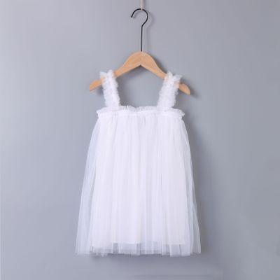 VIDMID Baby Girls vest Dresses Cotton summer Girls sweet lace Dress Kids girls Clothes children's girls sleeveless clothing 7065 2