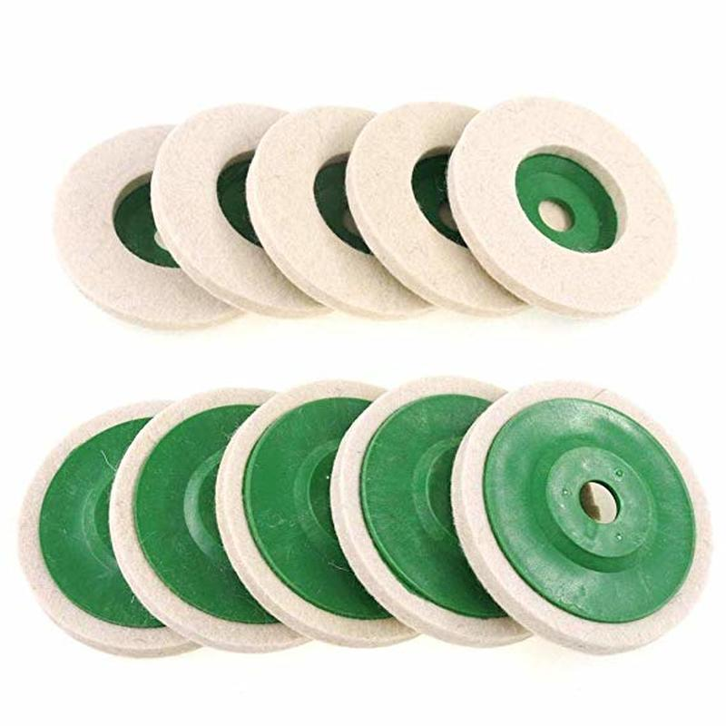 10PCS 4-inch Flickering  Wool Polishing Wheel Grinding Head Buffing Wheel Wear-Resistant Angle Grinder Wheels Buffing Pads