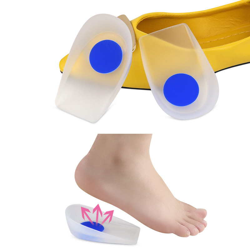 1Pair Men Women Silicon Gel heel Cushion Insoles Invisible Height Increase Half Pad Spur Support Shoe pad High Heel Inserts