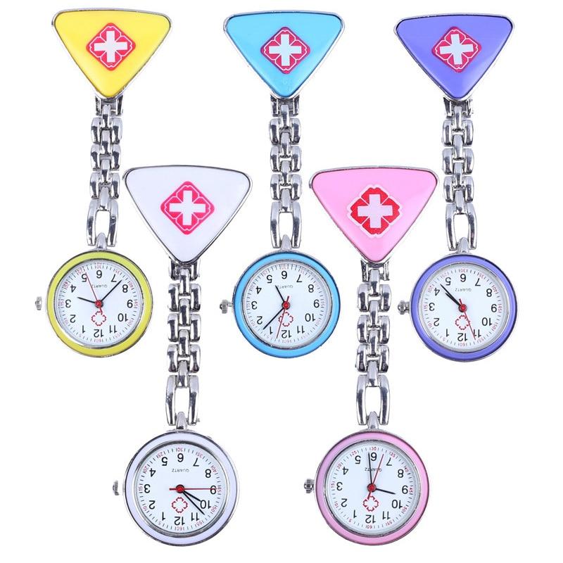 Triangle nurse watch nurse gift watch pocket watch female cute triangle medical nurse watch yellow blue pink