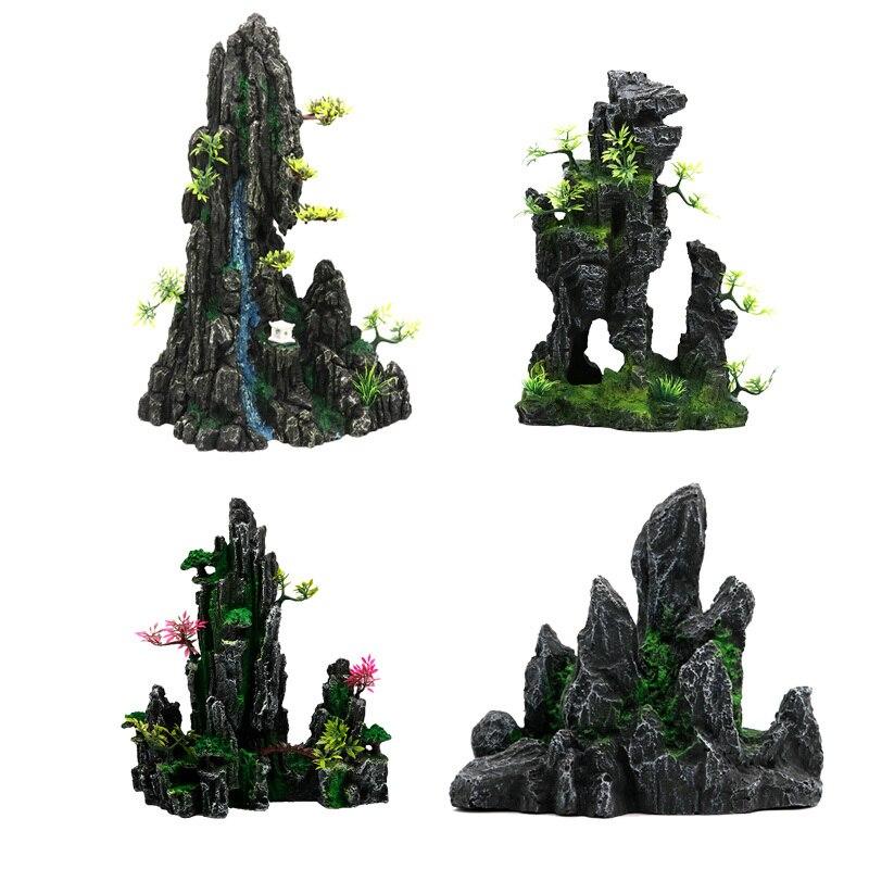 Аксессуары для аквариума декорации аквариума озеленение искусственные декоративные камни украшения моделирование скала акваскейп Декор