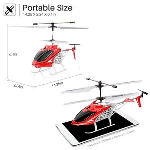 Image 3 - SYMA Official S39 3CH RC Helicopter with Hover Altitude Hold Function Aluminum 2 Batteries Anti Shock Remote Control Toy Gift