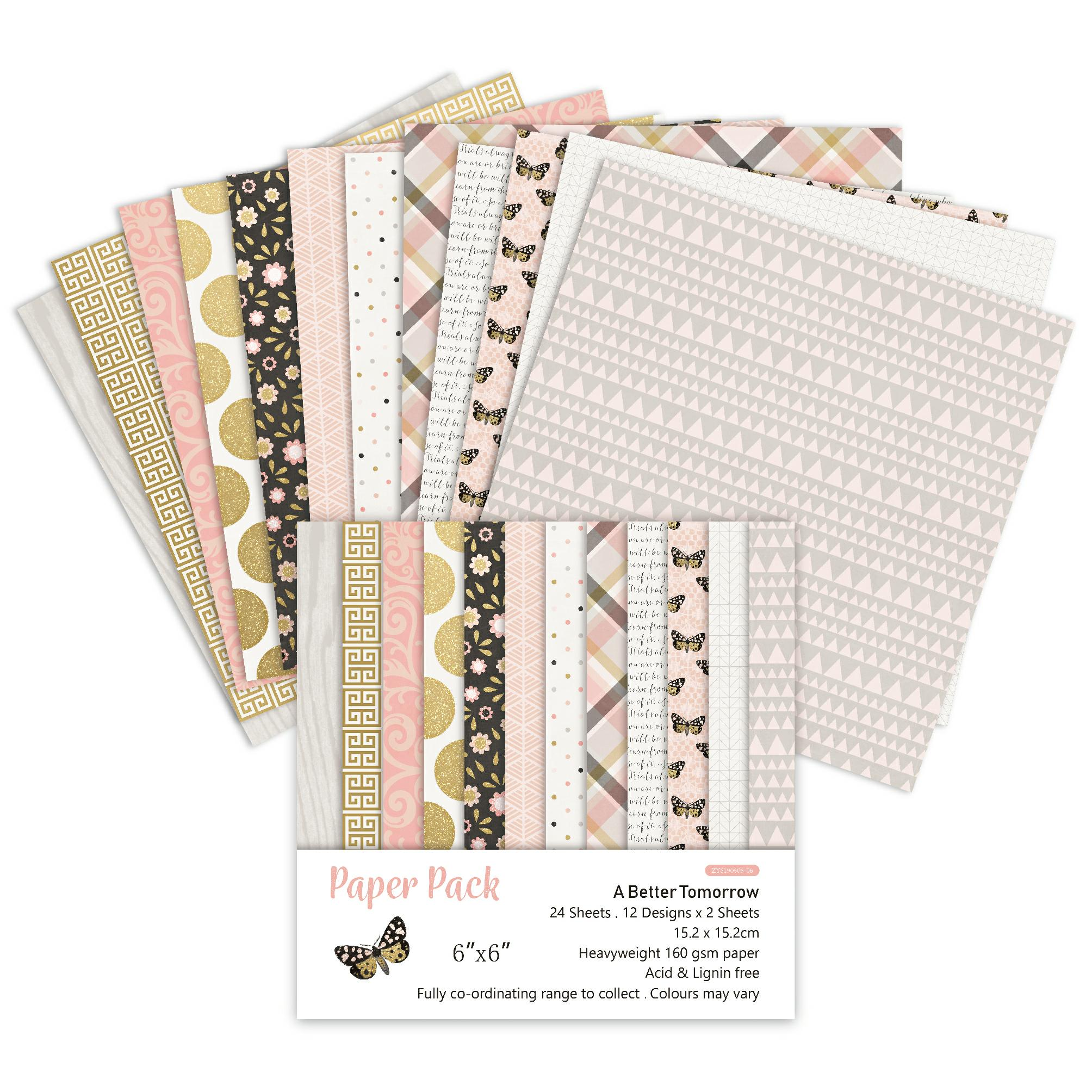 DIY A Better Tomorrow Style Scrapbooking Paper Pack Of 24 Sheets Handmade Craft Paper Craft Background Pad
