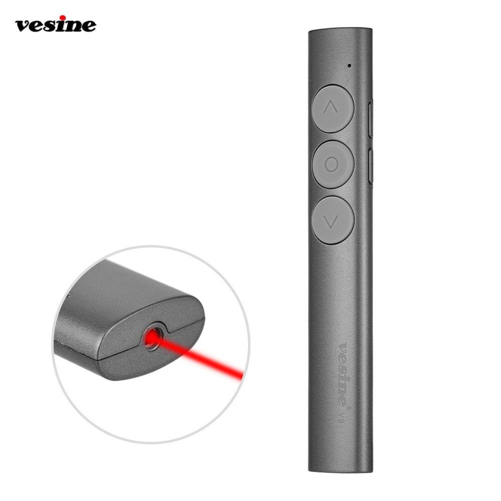 Aibecy Portable Wireless Presenter Pointers 2.4 GHertz USB Wireless Red Pen Fernbedienung PPT Powerpoint Pr/äsentation Flip Pen