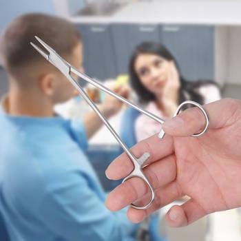 1 pc Dental Needle Holder Pliers Stainless Steel 16cm/18cm Forceps Orthodontic Tweezer Dentist Instrument Equipment