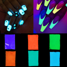 10/30g Colorful Luminous Powder Fluorescent Glitter Glow Pigment Glow In The Dark For DIY Craft Nail Art Decor Neon Phosphor недорого