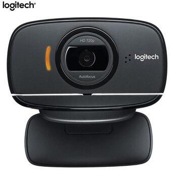 100% מקורי Logitech B525 HD מצלמת אינטרנט נייד 360 מסתובב 720p 8 מגה וידאו אוטומטי פוקוס קורא USB אינטרנט מצלמה