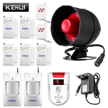 KERUI Cheap Upgraded Standalone Wireless Home Security Alarm System Kit Siren Horn WIth Motion Detector DIY 110db Burglar Alarm