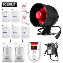 KERUI tanie bezprzewodowy System antywłamaniowy lokalnych syrena alarmowa bezpieczeństwa Alarm domowy głośnik wykrywacz ruchu czujnik drzwi zestaw do samodzielnego montażu
