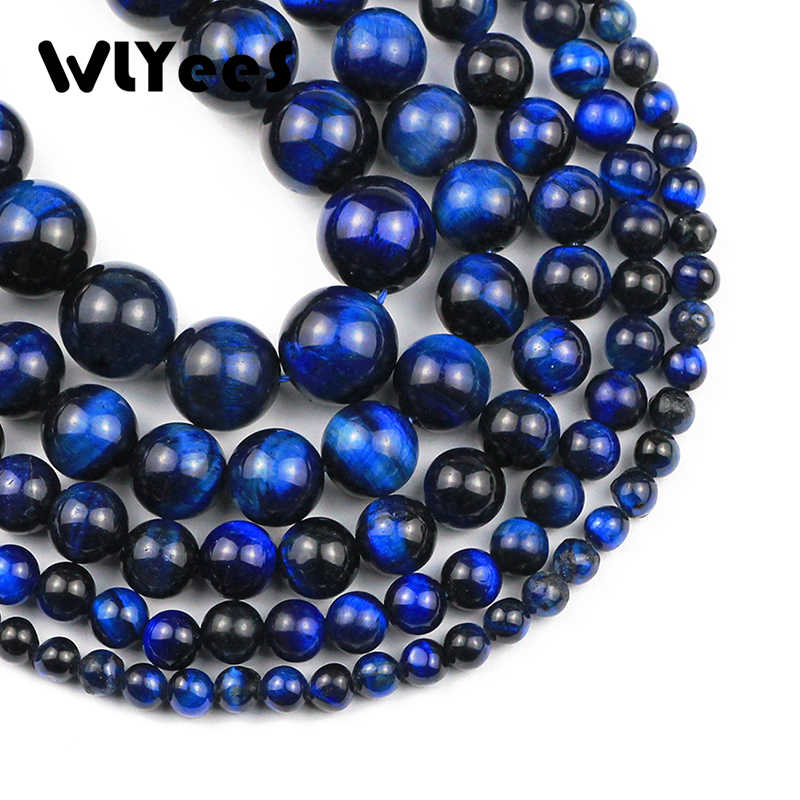 10Pcs 100/% Natural Blue Tiger Eye Gem Round Ball Pendant Bead 12mm