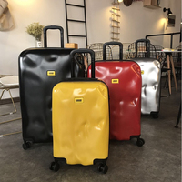 2019 New retro suitcase ins personality password box suitcase irregular 20 inch 24 inch long distance travel trolley luggage