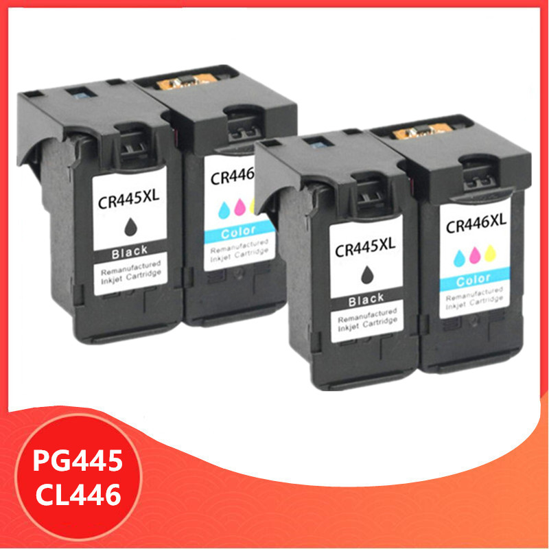 4Pack PG-445 PG445 CL-446 XL Ink Cartridge for <font><b>Canon</b></font> PG 445 CL 446 for <font><b>Canon</b></font> <font><b>PIXMA</b></font> MX494 MG2440 MG2940 MG2540 <font><b>MG2540S</b></font> IP2840 image
