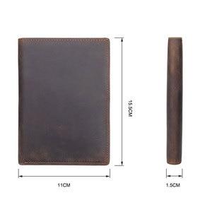 Image 5 - Обложка для паспорта из натуральной кожи, многофункциональная сумка для сертификата, дорожный кошелек, кошелек унисекс для карт, держатель для билета, кожа Crazy Horse