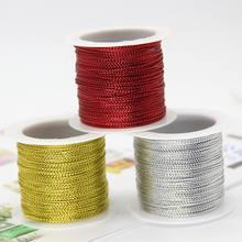 20 м/рулон 1 мм золотые серебряные красные шнуры металлический