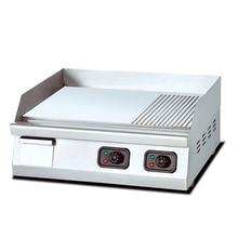 Electro-thermal Desktop Half Plane Half Grain Steak Stove Teppanyaki Frying Furnace Independent Temperature Control Commercial