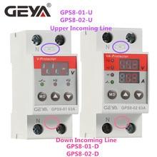 Protective-Device Over-Current Voltage-Under-Voltage GEYA GPS8 63A Digital 220VAC