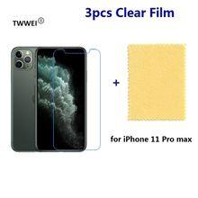 3x прозрачная защитная пленка для экрана iphone 11 xr xs max