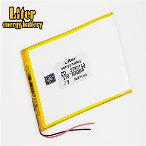 Image 1 - 9 cal 10 cal duża pojemność 3.7 V bateria tableta 6000 mah każda marka tablet uniwersalny akumulatory litowe 3790140
