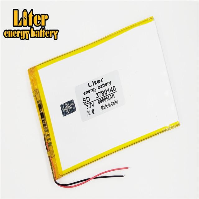 9 cal 10 cal duża pojemność 3.7 V bateria tableta 6000 mah każda marka tablet uniwersalny akumulatory litowe 3790140