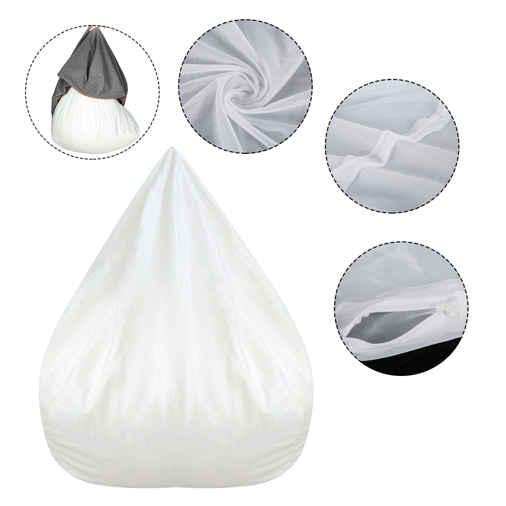 Closeout Deals┌Sofa-Cover Lazy-Bean-Bag Animal-Toy Stuffed Suitable-For Waterproof White Only-Inner-Case