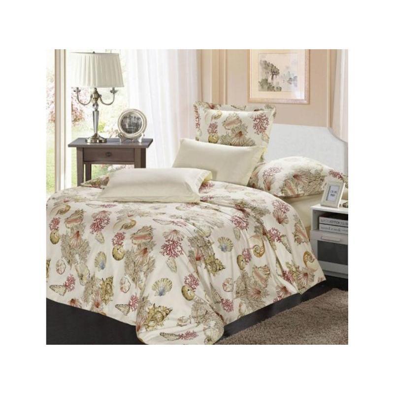 цена на Bedding Set полутораспальный СайлиД, B, cream, with pattern