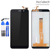 Free Shipping 5.0'' Black For Cubot J3 LCD Display with Touch Screen Digitizer Assembly For Cubot J3 Mobile Phone Accessories(China)