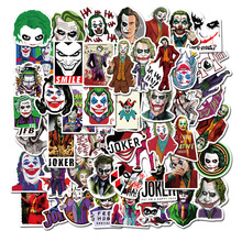 50PCS The Joker Anime Stickers Cartoon Clown Style for Case Laptop Motorcycle Skateboard Luggage Decal Children Toy Sticke