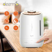 Original Deerma 5L Air Humidifier Ultrasonic Fog Quiet Aroma Mist Maker LED Touch Screen Timing Function Home Water Diffuser