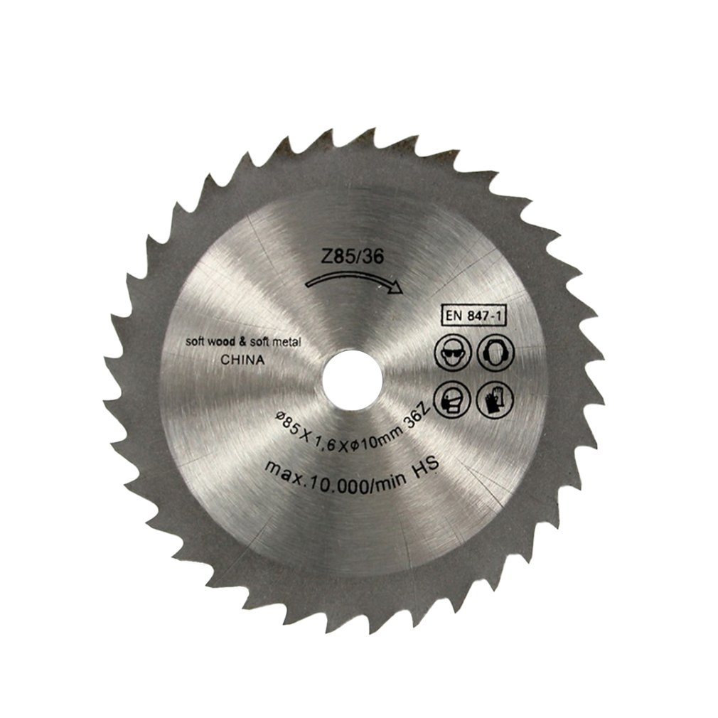 36 Teeth TCT Circular Saw Blade Wheel Discs TCT Alloy Woodworking Multifunctional Saw Blade For Wood Metal Cutting 85x10MM