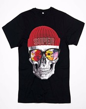 Shirt Long Choker Model Rapper Skull Hat(China)