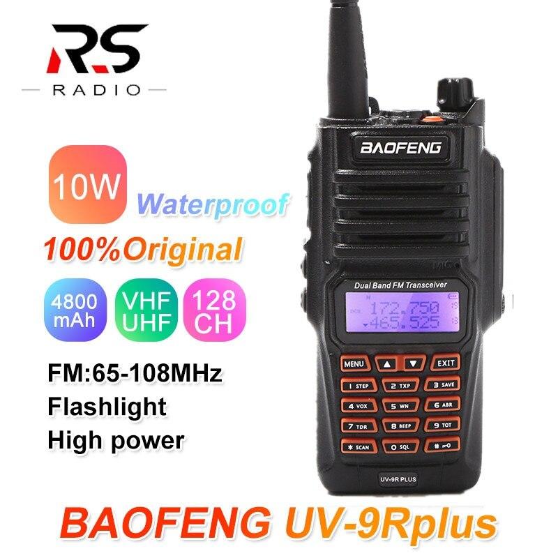10W Baofeng UV-9R Plus Walkie Talkie Waterproof CB Ham Radio Scanner UHF VHF Transceiver Radio Amateur UV-9R For Hunting 10KM