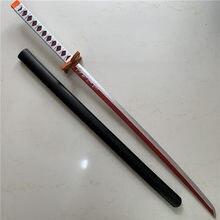 1:1 démon tueur couteau épée arme Cosplay Tanjirou Kochou Shinobu lame du diable samouraï épée Ninja Katana modèle PU 104cm