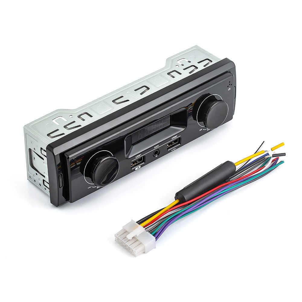 1 Din автомагнитола Авто Аудио Стерео 12 В Поддержка FM Aux в приемник USB MP3 плеер без Bluetooth пульт дистанционного управления