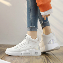 Brand Sneakers Women Fashion Casual Shoes Woman High-top Platform Shoes Lace-up Spring/Autumn New Zapatos De Mujer Ladies Shoes fashion brand spring autumn women platform shoes genuine leather casual shoes woman flats lace up oxford shoes for women shoes