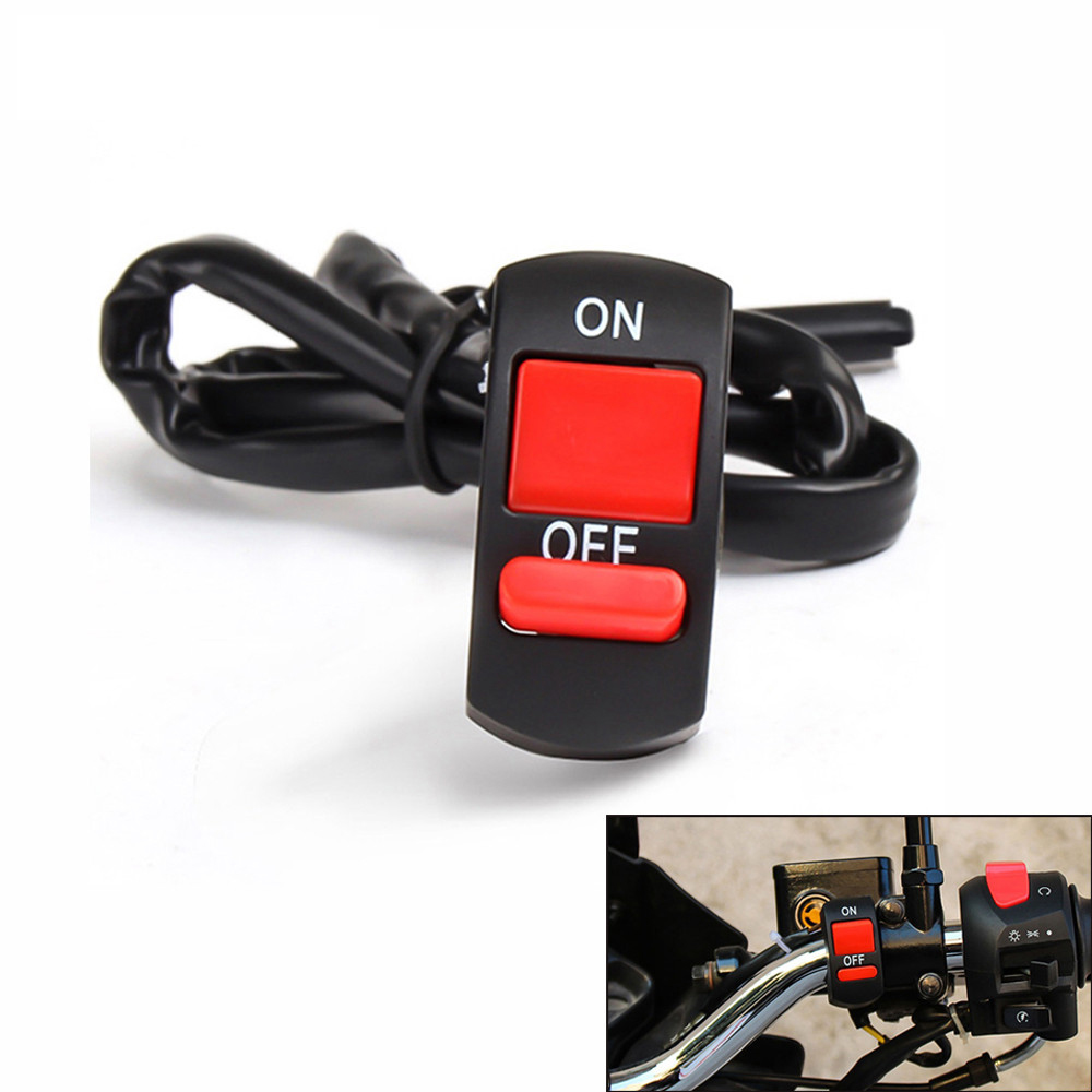 For BMW F800S F800ST f 800 r HP2 Enduro K1200R Universal Motorcycle Handlebar Flameout Switch ON OFF Button For moto DC12V/10A image