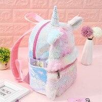 25 35 CM Baby Backpack Unicorn Mochila Niño Stuffed & Plush Animals Plush Backpacks Soft Toys for Children Gift for Girlfriend