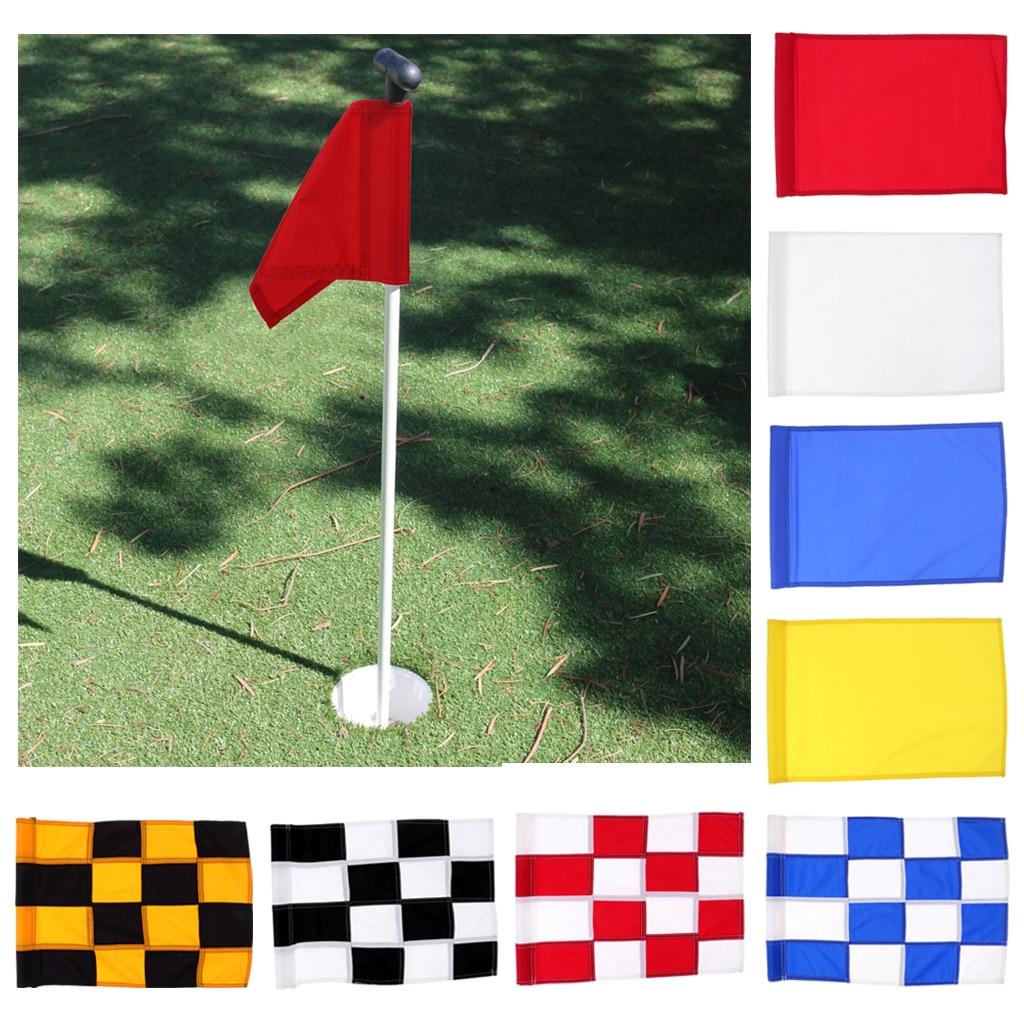 Golf Flag, Golf Putting Green Flag, Backyard Practice Golf Hole Pole Cup Flag Nylon Putting Green Flag Golf Accessories