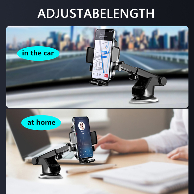 LISM Sucker Car Phone Holder Mobile Phone Holder Stand in Car No Magnetic GPS Mount Support For iPhone 12 11 Pro Xiaomi HUAWEI 4