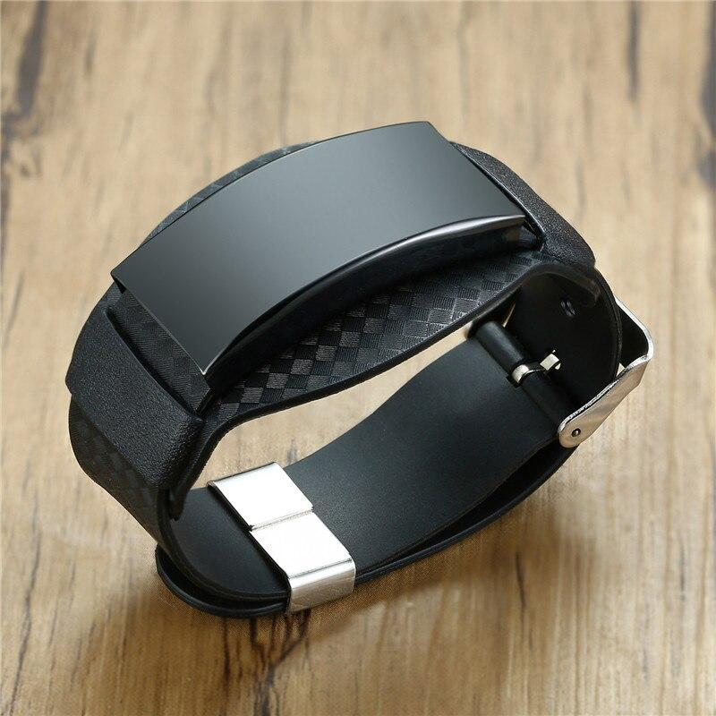 Мужские браслеты из углеродного волокна ZORCVENS, широкие браслеты из нержавеющей стали с черным персонализированным браслетом|Индивидуальные Браслеты| | АлиЭкспресс