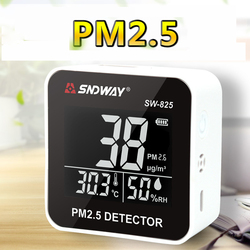 PM 2,5 Air Qualität Monitor Digitale Gas Analyzer Laser Duty Sensor umgebung Detektor Hause Led-anzeige PM 2,5 detektor