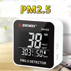 PM2.5 Qualità Dell'aria Monitor Analizzatore di Gas Digitale Laser Duty Sensore ambiente Detector Home Display A LED PM2.5 rivelatore