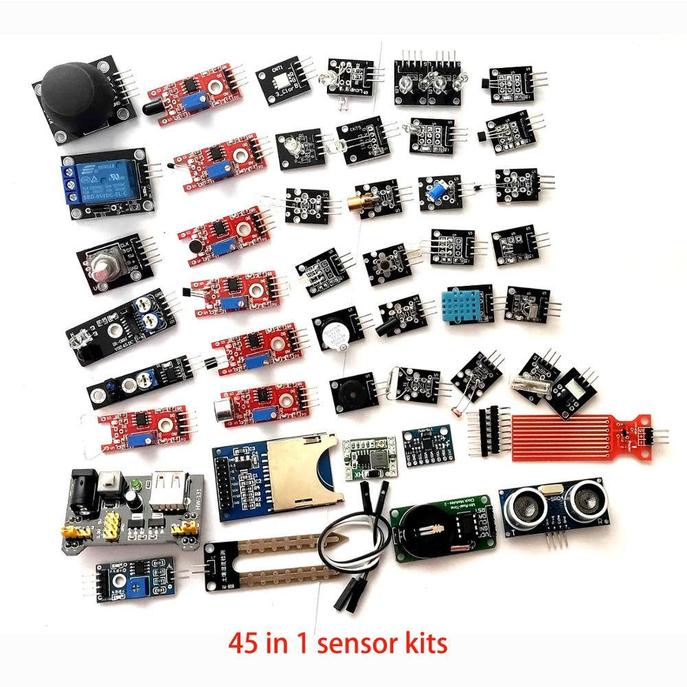 45 In 1 Sensors Modules Starter Kit For Arduino / 37in1 Sensor Kit 37 In 1 Sensor DIY Kit For UNO R3 MEGA2560