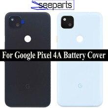 "5.81 ""Google Pixel 4A 배터리 커버 도어 백 하우징 후면 케이스 픽셀 4A 배터리 도어 (카메라 렌즈 교체 포함)"
