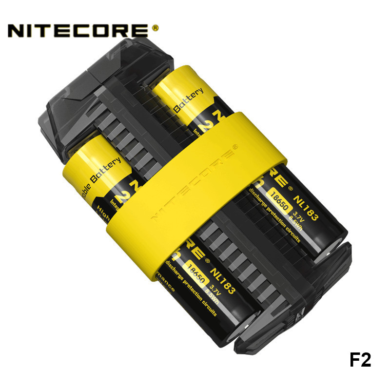 Nitecore F1 F2 Flexible Outdoor Power Bank 26650 18650 16340 14500 Various Battery Compatible Rapid Real time Status USB Charger|Portable Lighting Accessories| |  - title=
