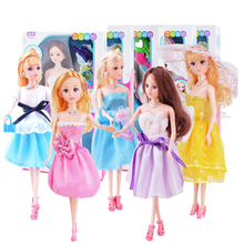 1/6 BJD Doll 30CM 6 Joints Baby Toys For Girls DIY Barbie doll Gift box With Bag umbrella Comb shoes accessory 3D eyes Baby Gift 13 moveable joints 1 6 3d eyes bjd doll toys with accessories clothes shoes bag hat fashion figure nake dolls toy for girls gift