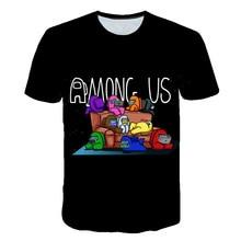 T-Shirt Children Tees Game Graphic Funny Among Us Impostor Cartoon Kawaii Tops Summer